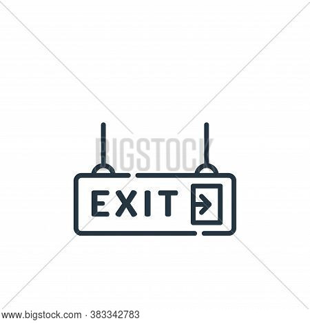 exit icon isolated on white background from museum collection. exit icon trendy and modern exit symb