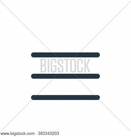 menu icon isolated on white background from ui collection. menu icon trendy and modern menu symbol f