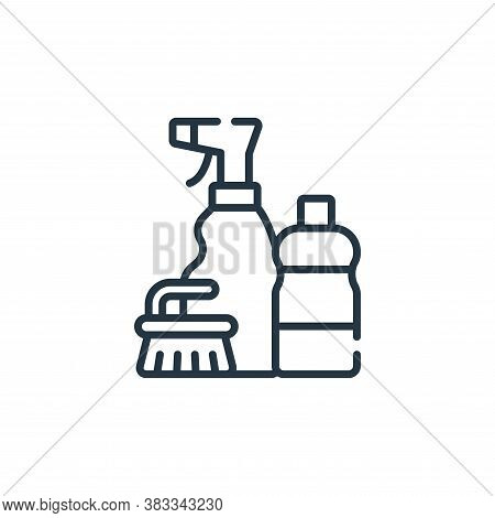 cleaning icon isolated on white background from supermarket collection. cleaning icon trendy and mod