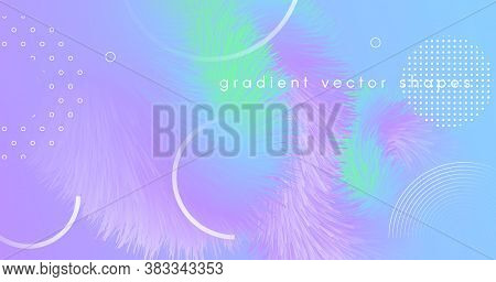 Vibrant Background. Pastel Bright Banner. Color Geometric Wallpaper. Flow Dynamic Movement. Wave 3d