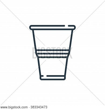 plastic glass icon isolated on white background from party and celebration collection. plastic glass