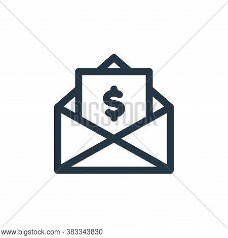 email icon isolated on white background from investment collection. email icon trendy and modern ema