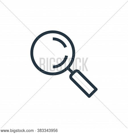 search icon isolated on white background from marketing seo business collection. search icon trendy