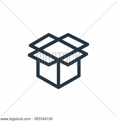 box icon isolated on white background from ecommerce and shopping collection. box icon trendy and mo