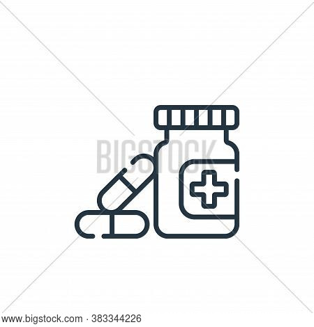 medicine icon isolated on white background from supermarket collection. medicine icon trendy and mod
