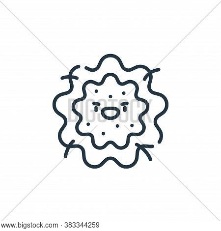 bacterium icon isolated on white background from dentist collection. bacterium icon trendy and moder