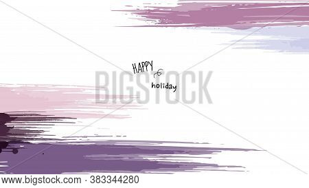 Abstract Background Minimal Design With Earth Tone Watercolor Paintbrush. Artistic Watercolor Splash