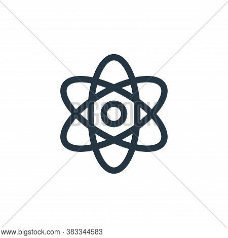atom icon isolated on white background from education collection. atom icon trendy and modern atom s