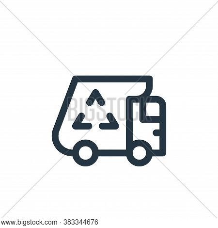 garbage car icon isolated on white background from sustainable energy collection. garbage car icon t