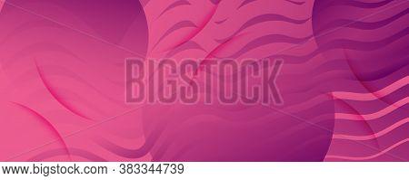 Color Flow Wave. Pink Gradient Wallpaper. Abstract Fluid Shape. Business Texture.  Color Flow Wave.