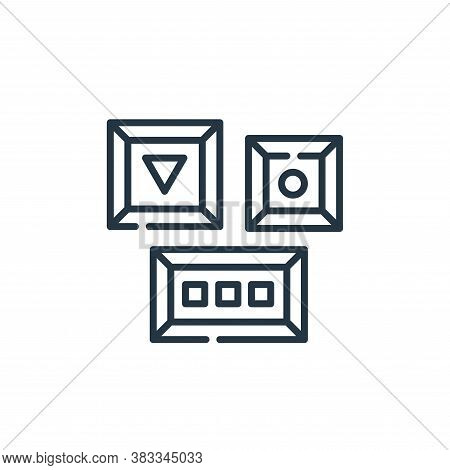 gallery icon isolated on white background from museum collection. gallery icon trendy and modern gal