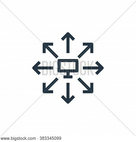 hub icon isolated on white background from marketing seo business collection. hub icon trendy and mo