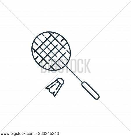 badminton icon isolated on white background from kids collection. badminton icon trendy and modern b