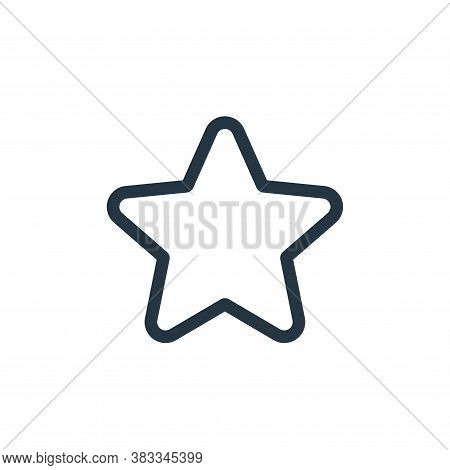 star icon isolated on white background from ui collection. star icon trendy and modern star symbol f