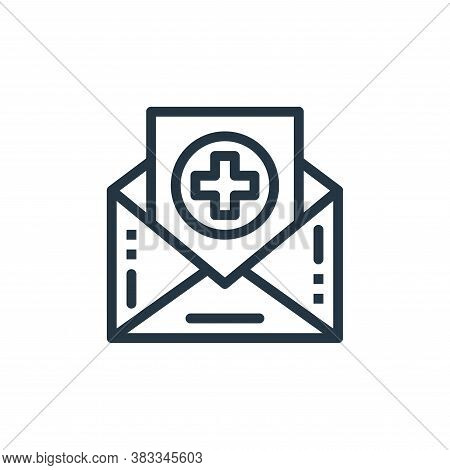 email icon isolated on white background from medical collection. email icon trendy and modern email