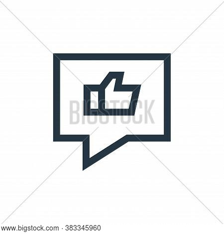 thumbs up icon isolated on white background from customer reviews collection. thumbs up icon trendy