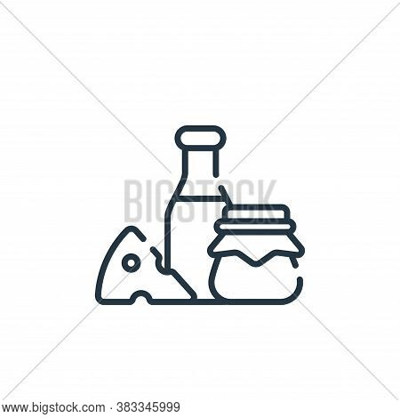 dairy products icon isolated on white background from supermarket collection. dairy products icon tr