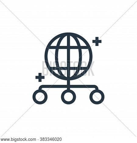 globe icon isolated on white background from marketing seo business collection. globe icon trendy an