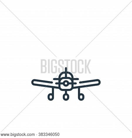 aircraft icon isolated on white background from aviation collection. aircraft icon trendy and modern