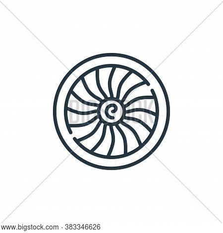 engine icon isolated on white background from aviation collection. engine icon trendy and modern eng