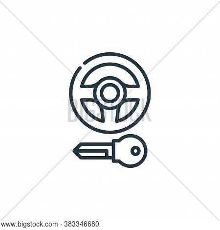 steering wheel icon isolated on white background from car engine collection. steering wheel icon tre