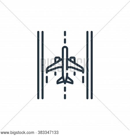 runway icon isolated on white background from aviation collection. runway icon trendy and modern run