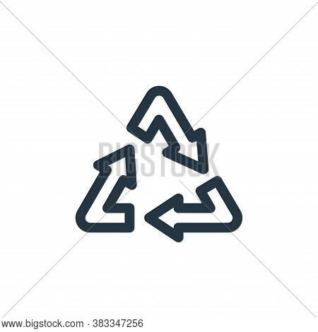 recycle icon isolated on white background from sustainable energy collection. recycle icon trendy an