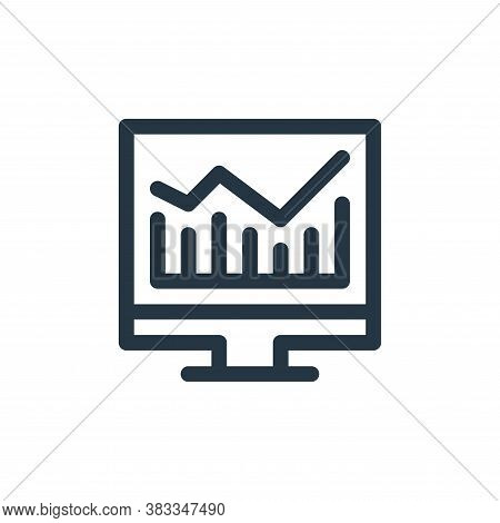 stock market icon isolated on white background from investment collection. stock market icon trendy