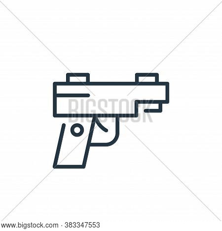 gun icon isolated on white background from sports collection. gun icon trendy and modern gun symbol
