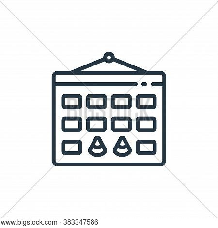 party time icon isolated on white background from event management collection. party time icon trend