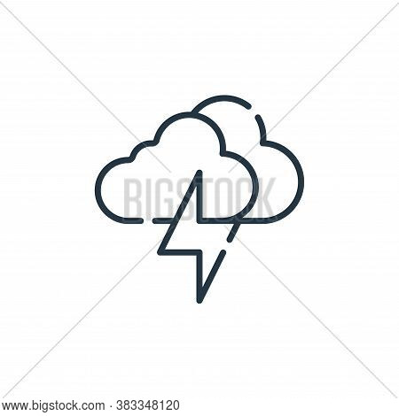 storm icon isolated on white background from sustainable energy collection. storm icon trendy and mo