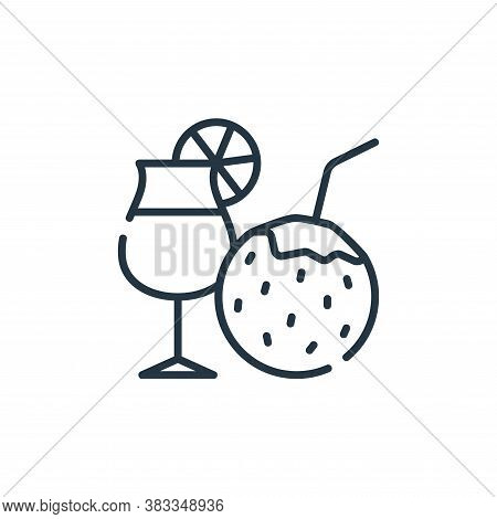 fire cocktail icon isolated on white background from party and celebration collection. fire cocktail