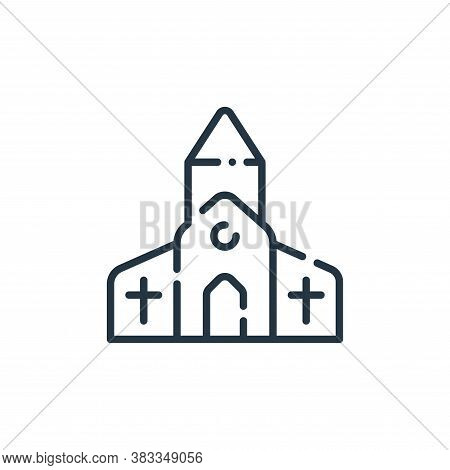 church icon isolated on white background from easter collection. church icon trendy and modern churc