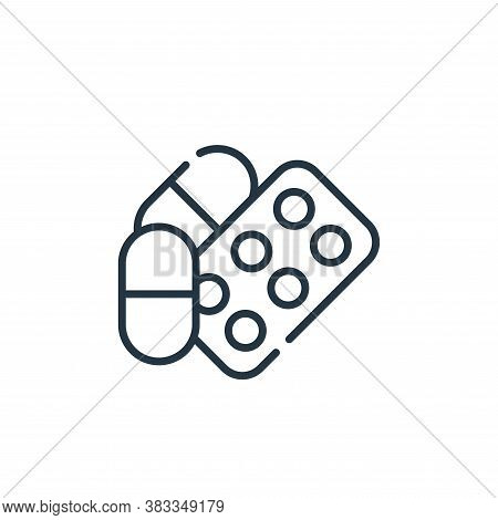 drugs icon isolated on white background from dentist collection. drugs icon trendy and modern drugs