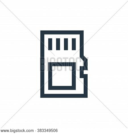memory card icon isolated on white background from wireless technology collection. memory card icon