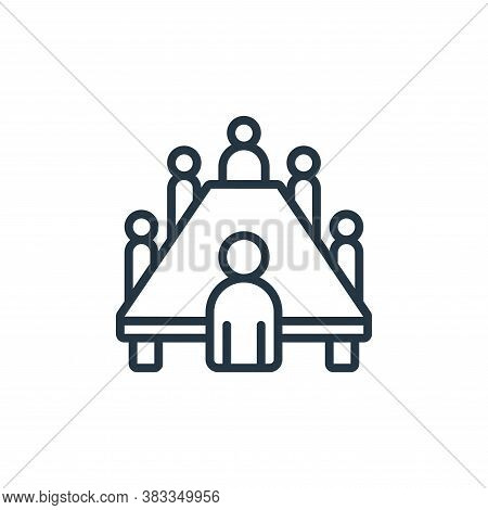 board meeting icon isolated on white background from event management collection. board meeting icon