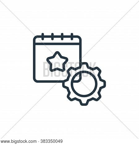 event management icon isolated on white background from event management collection. event managemen
