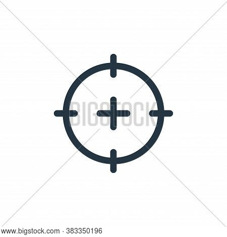 target icon isolated on white background from business collection. target icon trendy and modern tar
