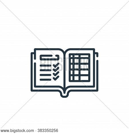 report icon isolated on white background from education collection. report icon trendy and modern re