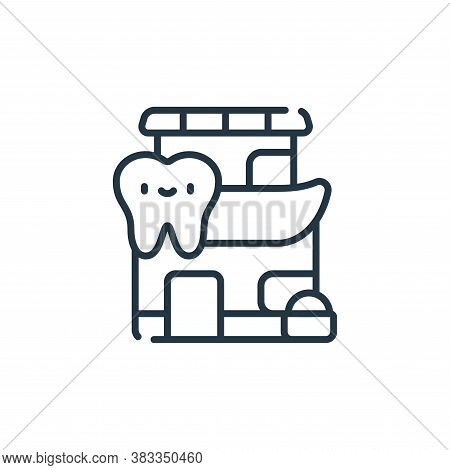 clinic icon isolated on white background from dentist collection. clinic icon trendy and modern clin