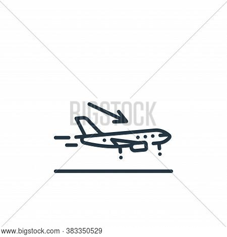 landing icon isolated on white background from aviation collection. landing icon trendy and modern l