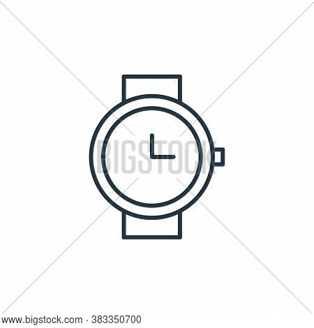 wristwatch icon isolated on white background from fashion collection. wristwatch icon trendy and mod