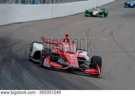 August 29, 2020 - Madison, Illinois, USA: MARCUS ERICSSON (8) of Kumla, Sweden  races through the turns during the  race for the Bommarito Automotive Group 500 at World Wide Technology Raceway