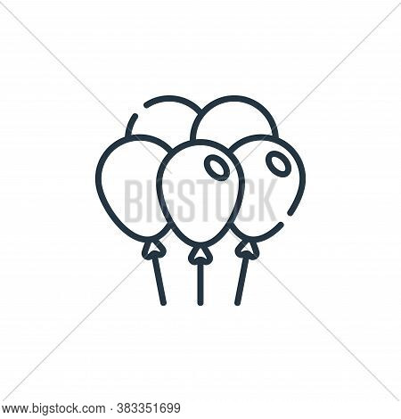 balloons icon isolated on white background from party and celebration collection. balloons icon tren