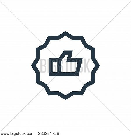like icon isolated on white background from customer reviews collection. like icon trendy and modern