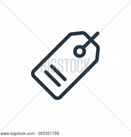 tag icon isolated on white background from ecommerce and shopping collection. tag icon trendy and mo
