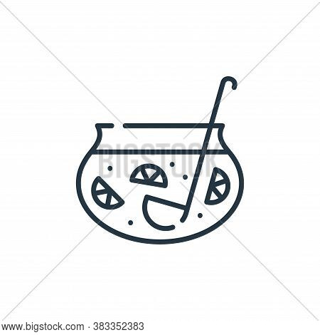 punch icon isolated on white background from party and celebration collection. punch icon trendy and