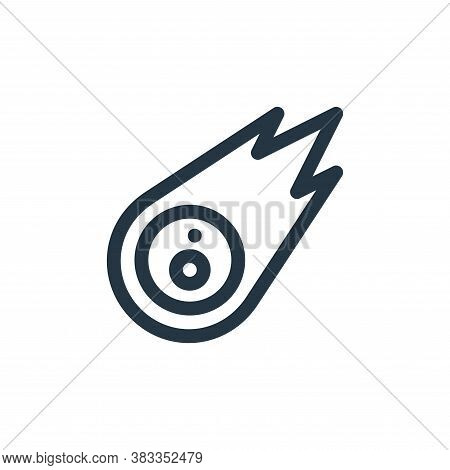 meteor icon isolated on white background from videogame elements collection. meteor icon trendy and