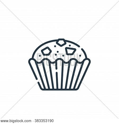 muffin icon isolated on white background from sweets and candies collection. muffin icon trendy and