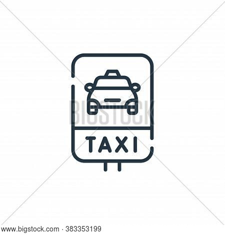 taxi stop icon isolated on white background from public transportation collection. taxi stop icon tr